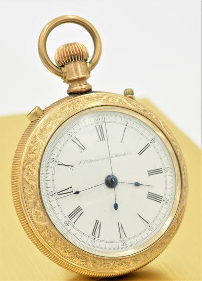 Early and Rare N.Y. Chronograph Watch Co True Chronograph Pocket Watch Circa 1883