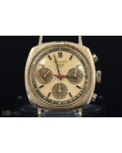 MK. Rare Heuer Camaro Panda Dial Valjoux 72 Chronograph Wrist Watch Ref 7220 Circa 1968