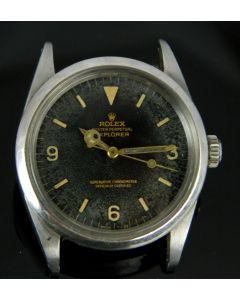 MK Men's Steel Tropical Rolex Explorer Ref 1016 Wristwatch, Circa 1964