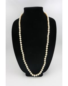 Single Strand Pearl Necklace - No Clasp