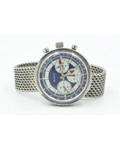 "Vintage Jumbo Bulova Chronograph C ""Stars and Stripes"" Valjoux 7736 Wristwatch Circa 1970's"