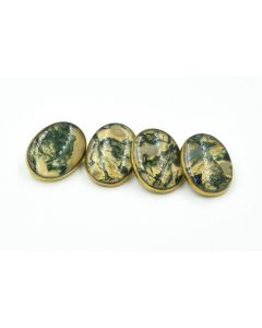 Victorian Yellow Gold and Moss Agate Cufflinks