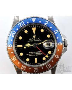 MK PRIVATE COLLECTION MK Rare Rolex GMT Ref 1675 Gilt Dial W/ Pointed Crown Guards Circa 1963