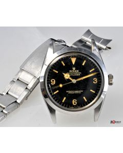 PRIVATE COLLECTION MK Fantastically Rare Men's Steel Rolex Explorer Ref 1016 Glossy Dial Circa 1964