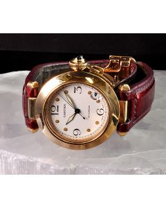 PRIVATE COLLECTION MK Ladies 18k Cartier Pasha Ref 1035 Automatic Wristwatch