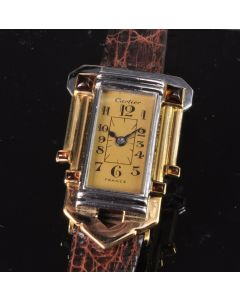 PRIVATE COLLECTION MK Art Deco Platinum and Gold Citrine Cartier Watch