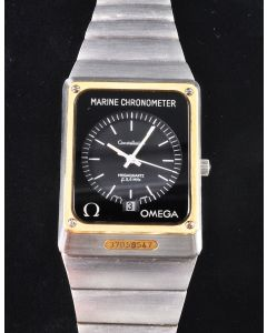 PRIVATE COLLECTION MK Rare Omega Marine Chronometer Megaquartz Wrist Watch From Howard Cosell