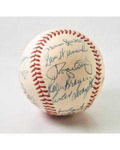 LA Dodgers Autographed Baseball - 18 Autographs