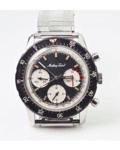 Rare Steel Mathey Tissot Valjoux 726 Chronograph Wristwatch C 1960's