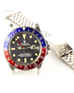 MK Men's Rolex GMT Master Steel Wrist Watch Ref 1675 Circa 1965.
