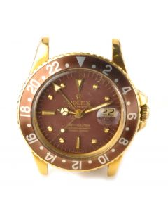 MK Rare Men's 18K Rolex GMT Master Ref 1675 Wrist Watch Circa 1968