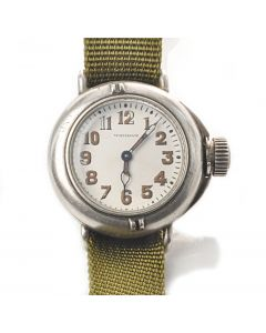 MK Early WWI Waltham Canteen Depollier Trench Waterproof Watch Ref 2625 Circa 1919