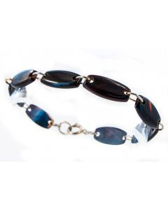 Contemporary Gold Plated Tortoise Shell Bracelet