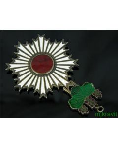 WWII Order Of The Rising Sun Enamel Japanese Sterling Silver Military Medal
