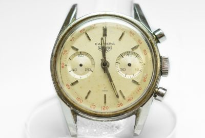 PRIVATE COLLECTION MK Rare Steel Heuer Carrera Chronograph Cal. 92 Wristwatch Circa 1960's