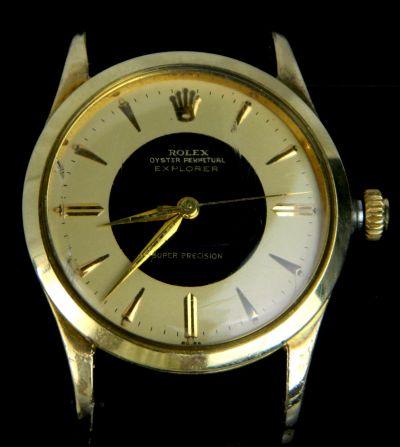 PRIVATE COLLECTION MK Rare Bulls Eye Dial Rolex Explorer Super Precision Ref 5506 Wristwatch No.465871 Circa 1959