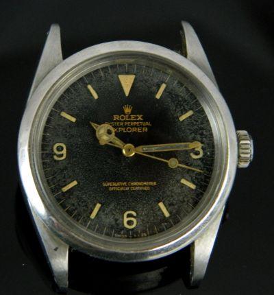 PRIVATE COLLECTION MK Men's Steel Tropical Rolex Explorer Ref 1016 Wristwatch Circa 1964