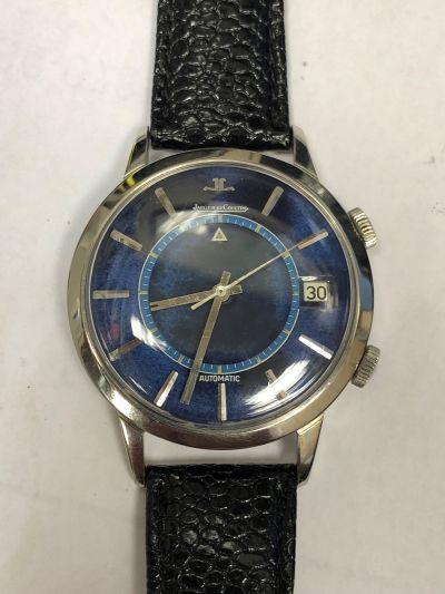 MK-Super Rare Lapis Lazuli Jaeger LeCoultre Automatic Memovox Wristwatch, Ref 855 Circa 1969.
