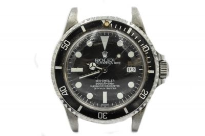 Men's Steel Rolex Sea-Dweller Ref 1665 Waterproof Wristwatch Circa 1975