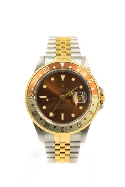 PRIVATE COLLECTION MK - Rolex Rootbeer GMT Master Wristwatch Ref 16713 Circa 1990/1 with Papers