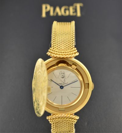 Unusual & Unique Saudi Gold Guinea Coin Watch By Piaget Gift from the Saudi Royal Family Circa 1970's