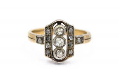 Victorian Yellow Gold and Diamond Ring