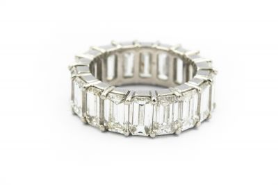 Contemporary Platinum and Diamond Eternity Ring (Don Chaifetz)