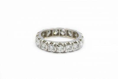 Estate Contemporary Platinum and Diamond Eternity Ring
