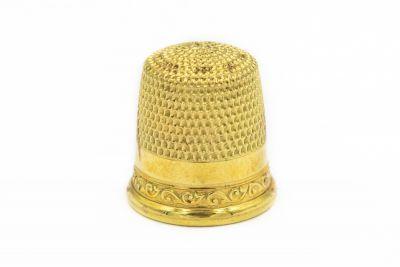 Estate 1960's Yellow Gold Thimble