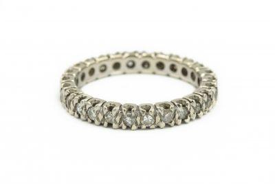 Contemporary Platinum and Diamond Eternity Ring
