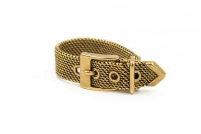 Contemporary Yellow Gold Buckle Ring