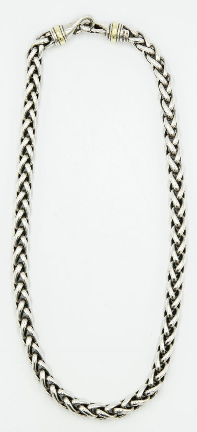 David Yurman Yellow Gold and Sterling Silver Necklace