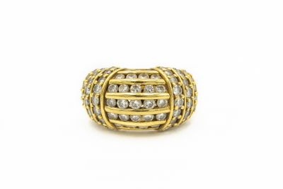Hammerman Brothers Yellow Gold and Diamond Ring