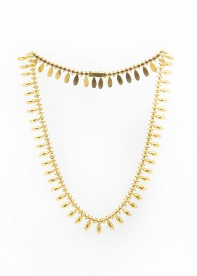 Pavlov Estate Yellow Gold Bib Necklace