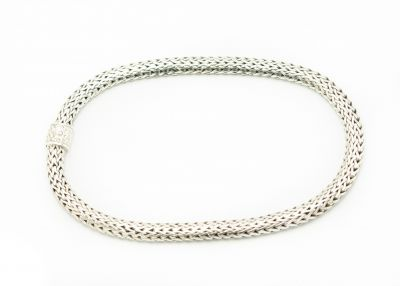 Contemporary John Hardy Sterling Silver Woven Necklace