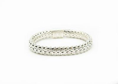 Contemporary John Hardy Sterling Silver Woven Bracelet