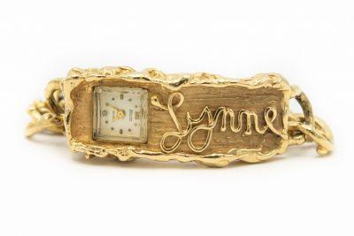 Arthur King Yellow Gold Nugget Watch Bracelet