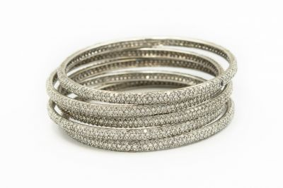 Estate White Gold and Diamond Eternity Bracelets - 5
