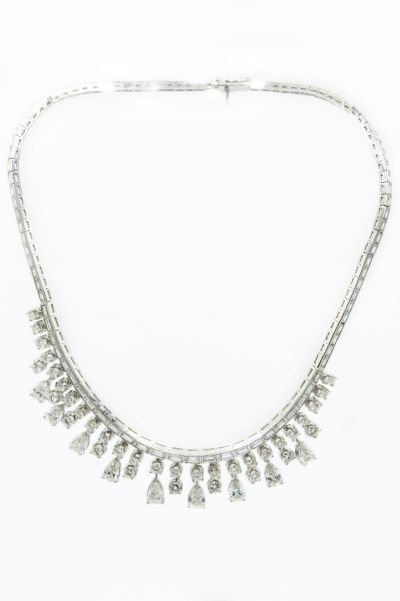 Estate Platinum and Diamond Necklace