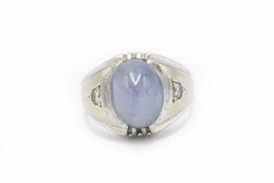 Estate Diamond and Star Sapphire Ring