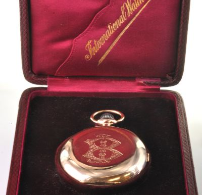 Minute Repeating Grande And Petite Sonnerie Clockwatch Hunter Case Keyless Lever Pocket Watch By International Watch Co. Invar