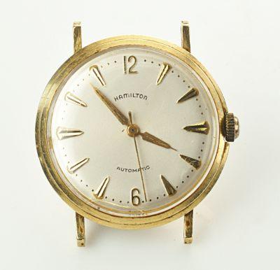 Rare 14K Hamilton Micro-Rotor Automatic Wristwatch Circa 1950's