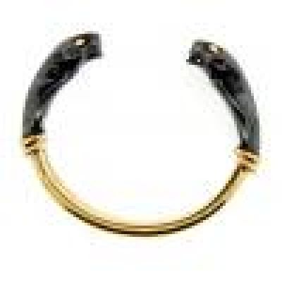 Cartier Yellow Gold and Hematite Panthere Cuff Bracelet
