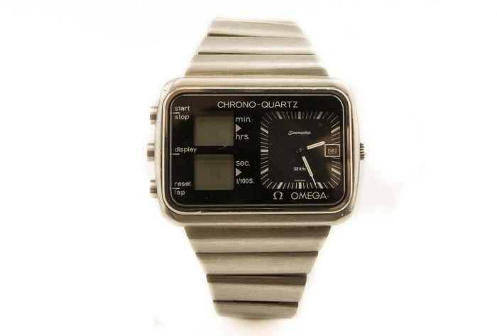 Private Collection Mk Men S Steel Omega Seamaster Chrono Quartz Wristwatch 32 Khz Ref St 196 0052