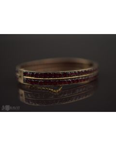 Victorian Vermeil and Garnet Bangle Bracelet