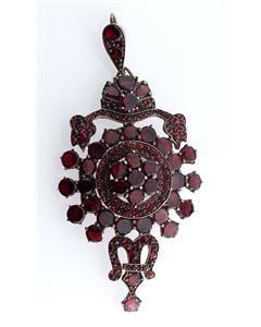 Victorian Vermeil Estate Bohemian Garnet Pendant/Brooch