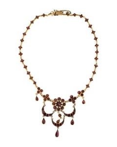 Victorian Vermeil and Garnet Necklace
