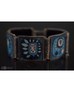 Mid Modern Enamel Bracelet by Perli Werkstatte