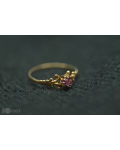 Victorian Yellow Gold and Amethyst Ring