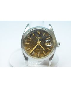 MK Personal Collection Men's Steel Rolex Oysterdate Ref 6694 Tropical Dial Watch watch Serial #1.389.243 Circa 1968